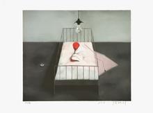 张晓刚 - 版画 - Amnesia – Baby in Bed