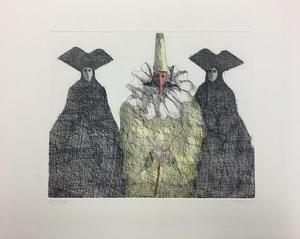 Paul FLORA - Druckgrafik-Multiple - Drei Masken