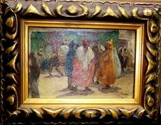 "Pedro RIBERA - Painting - Tanger ""' Petit Souk """""