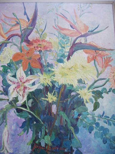 Serge SIEVIC - Peinture - FLEURS  EN  FETE