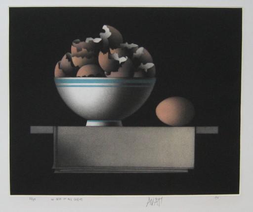 Mario AVATI - Druckgrafik-Multiple - GRAVURE 1976 SIGNÉE AU CRAYON NUM/85 HANDSIGNED ETCHING