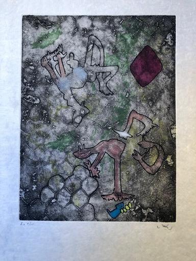Roberto MATTA - Grabado - Centre Noeds Plate VII