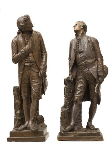 Giovanni Battista AMENDOLA - Escultura - Il Cavalieri rivali