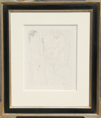 Pablo PICASSO - Print-Multiple - Nude Model and Sculptures (Bloch 185)