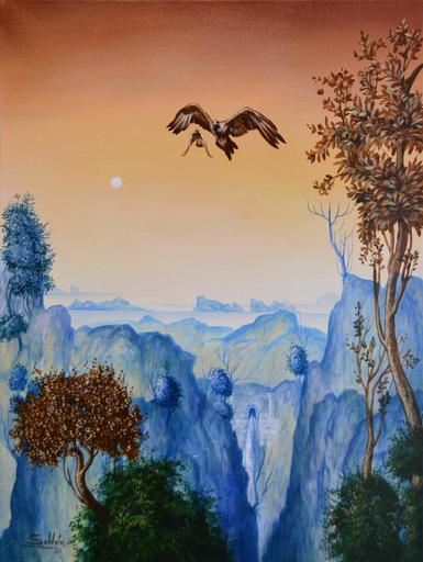 Carlos SABLÓN - Pittura - L'Aigle et la Pie
