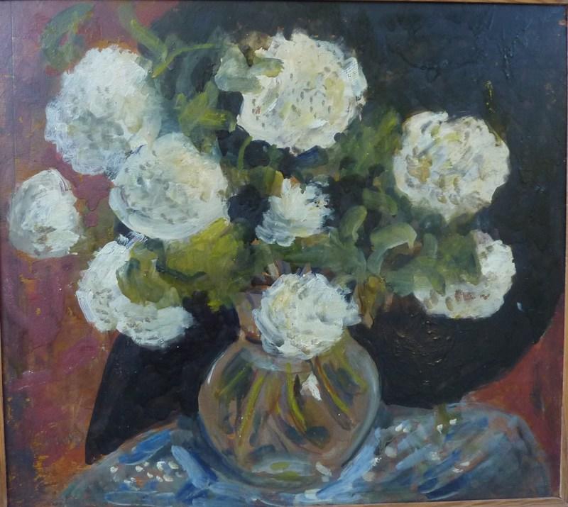 José MANGE - Pintura - Fleurs blanches