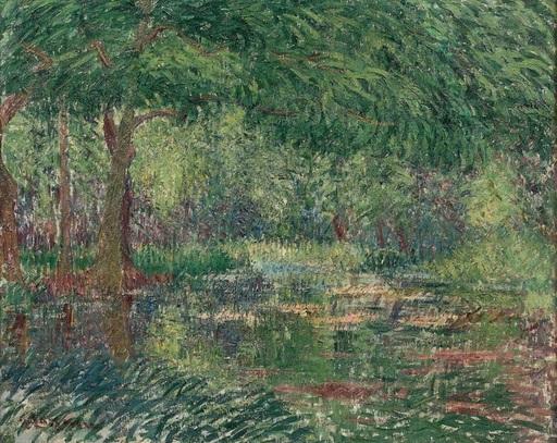 Gustave LOISEAU - Pittura - Les grands arbres en bord de rivière