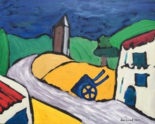 Christian DURIAUD - Pintura - Village (Hommage à Chabaud)
