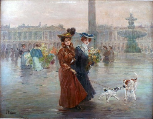 Félix ALARCÓN - Gemälde - La Place de la Concorde