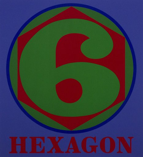 Robert INDIANA - Grabado - Hexagon
