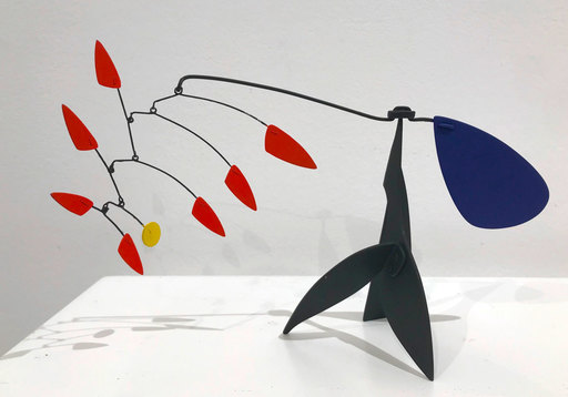 """Manuel MARÍN - Sculpture-Volume - Mini-Stabile """"Fantasy Bird with Red Feathers"""""""