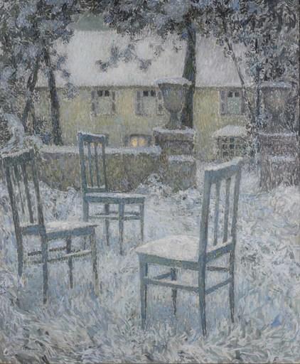 Henri LE SIDANER - Painting - Neige