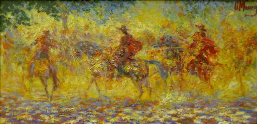 Georges Sauveur MAURY - Pittura - Scène de cavalerie