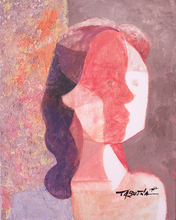 Romeo TABUENA - Painting - Mujer Perfil Cubista
