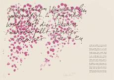 Günther UECKER - Print-Multiple - Huldigung an Hafez Nr. 27