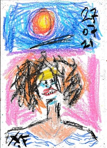 Harry BARTLETT FENNEY - Drawing-Watercolor - a delightful sagittarius 2 (27 07 21)
