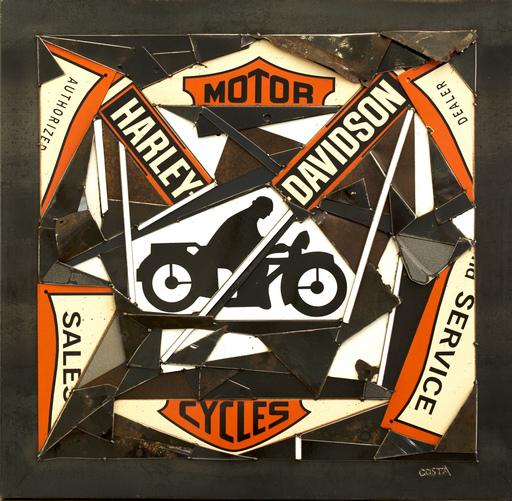 Fernando DA COSTA - Skulptur Volumen - Harley Davidson