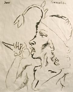 Manuel MONTERO - Dessin-Aquarelle - Dark Simonetta