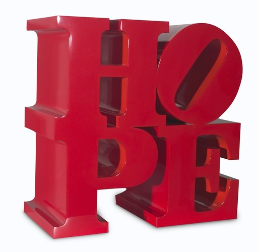 Robert INDIANA - Sculpture-Volume - HOPE