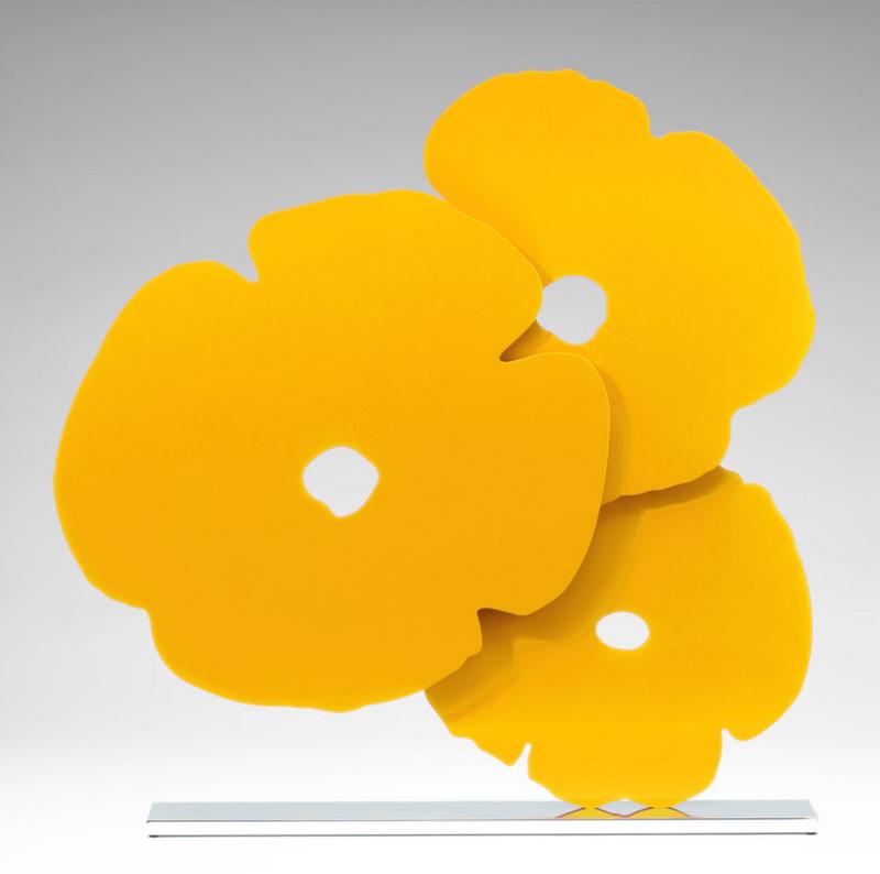 Donald SULTAN - Sculpture-Volume - Yellow poppies