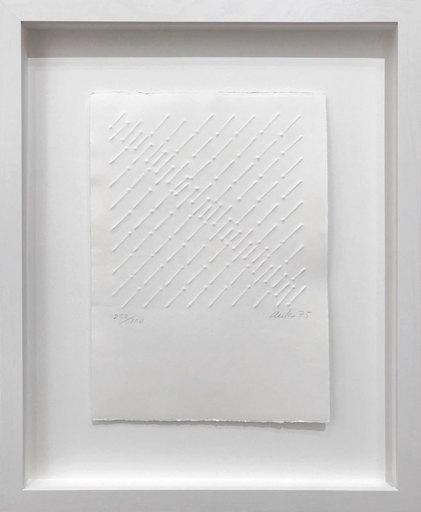 Günther UECKER - Print-Multiple - Kleine diagonale Reihung