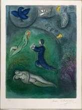 马克•夏加尔 - 版画 - Daphnis et Lycenion
