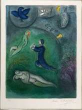 Marc CHAGALL - Estampe-Multiple - Daphnis et Lycenion