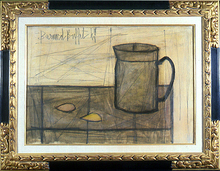 Bernard BUFFET (1928-1999) - still life with coffee pot and lemon