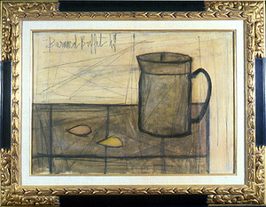 Bernard BUFFET - Peinture - still life with coffee pot and lemon