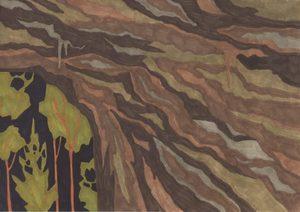 Marie LARRIVÉ - Drawing-Watercolor - « Grotte et feuillage »