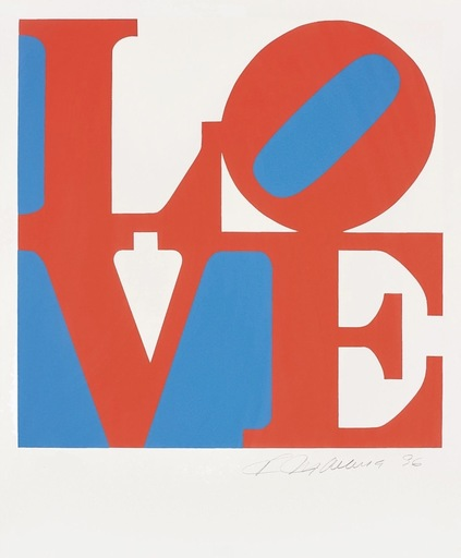 Robert INDIANA - Estampe-Multiple - Love #3 (from the Book of Love)