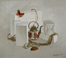 Tatjana PALCUKA - Painting - Still Life with Chinese Teapot    (Cat N° 5435)