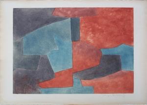 Serge POLIAKOFF - Print-Multiple - Composition grise, bleue et rouge