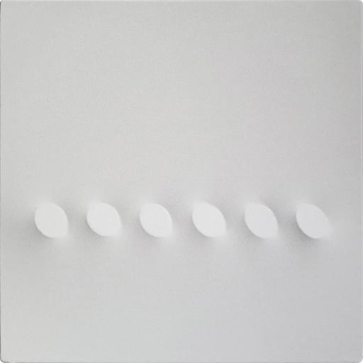 Turi SIMETI - Pintura - 6 ovali bianchi