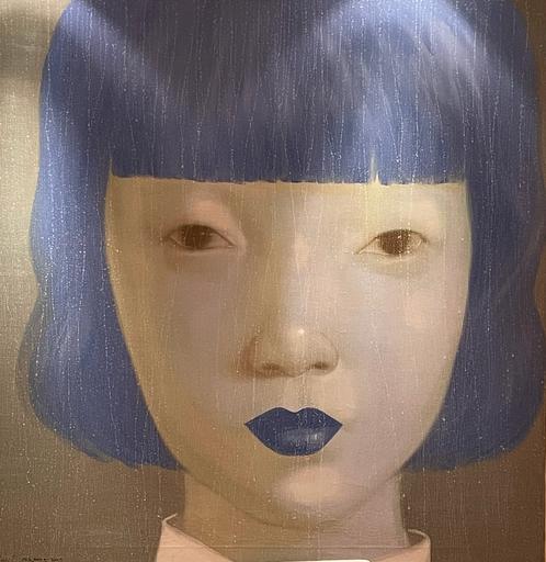 Attasit POKPONG - Peinture - Woman with blue lips