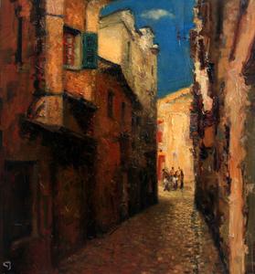 Levan URUSHADZE - Painting - Old town