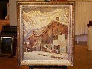 Paul MASSOW - Peinture - Bergdorf im Winter