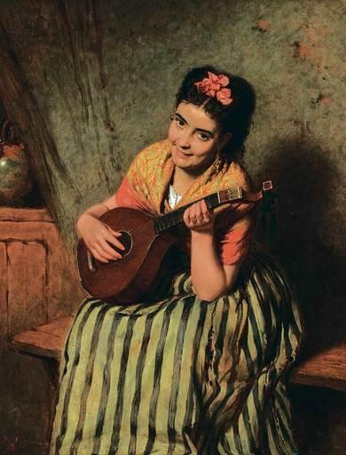 Edwin Thomas ROBERTS - Pintura - A Love Song