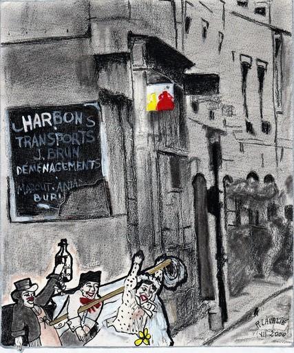 R.CAVALIÉ - Dessin-Aquarelle - Lyon. Guignol 2.