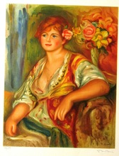 Pierre-Auguste RENOIR - Estampe-Multiple - Blonde A La Rose