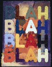 Mel BOCHNER - Stampa Multiplo - Blah Blah Blah