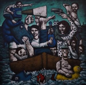 Nicolas MONJO - Painting - Sans titre