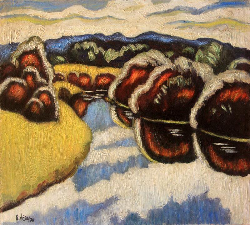Valeriy NESTEROV - Painting - Vorya river. Krasnoarmeysk district