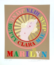 Robert INDIANA - Grabado - Sunburst Marilyn