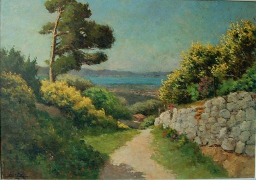 Louis LANZA - Painting - Toulon: l'anse Méjean