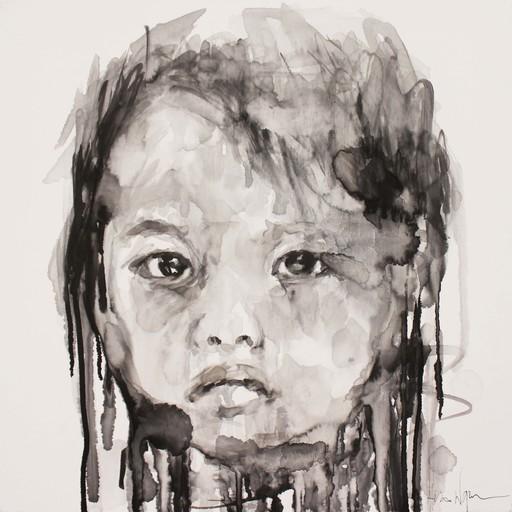 Hom NGUYEN - Peinture - LA PETITE FILLE