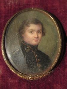 Cécile VILLENEUVE - Miniatura - Portrait de jeune homme
