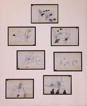 Carlos MÉRIDA - Dibujo Acuarela - Sin titulo (7 Bocetos)