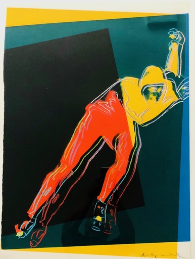 Andy WARHOL - Grabado - Speed Skater (from Art and Sports Portfolio) 1