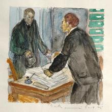 Louis BERTHOMMÉ-SAINT-ANDRÉ - Dibujo Acuarela